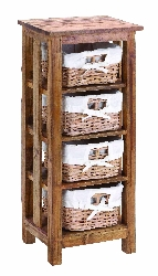 Braydon Wood Cabinet with Basket Drawers