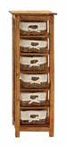 Audrina Wood Cabinet with Basket Drawers