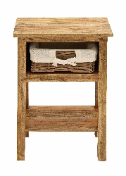 Cesar Wood Cabinet with Basket Drawer