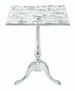Leonidas Silver Filigree Accent Table
