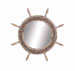 Troilus Elegant Styled Wood Ship Wheel Mirror