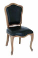 Frederick French Black Leather Chair