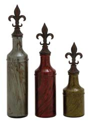 Hiaticula Glass Stopper Bottle Set/3