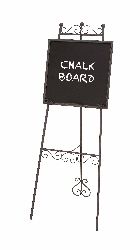 Bergen Metal Chalk Board Easel