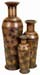 Esmeralda Shabby Brown Vase Set 3