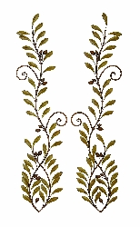 Aaden Long Leaf Branches Wall Swag Set 2