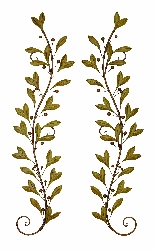 Veda Long Leaf Branches Wall Swag Set 2