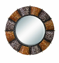 Arham Tuscan Embossed Wall Mirror