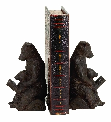 Jamal Reading Bear Bookend Set