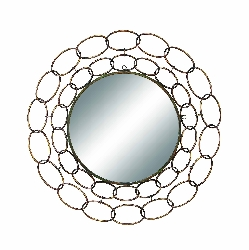"Cam Link Frame 35"" Round Wall Mirror"