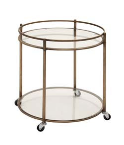 Paschen Metal & Glass Tea Cart