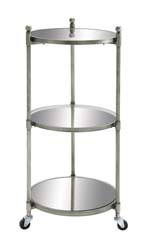 Mando Metal & Glass 3 Tier Trolly