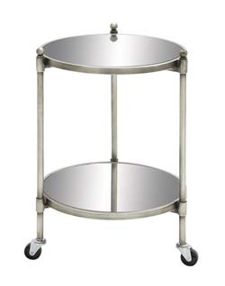 Liia Metal Glass 2 Tier Trolly
