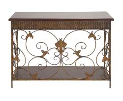 Higgins Metal & Wood Console Table