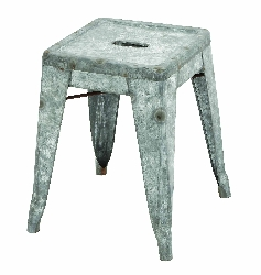 Ellis Galvanized Counter Stools (Small)