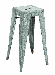 Yousuf Galvanized Counter Stools (Large)