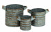 Yassin Round Galvanized Planter Set 3