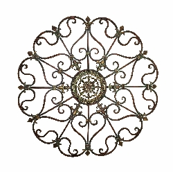 "Ayana Scrolled 29"" Round Wall Decor"