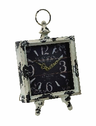 Crystal Antiqued Table Clock