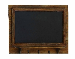 Ayva Pine Wood Blackboard Wall Shelf & Hooks