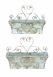 Andi Shabby Wall Planter Set 2