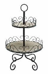 Chiara 2 Tier Cookie, Cupcake Dessert Tray