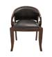 Wyndham Wood Teak Leather Chair