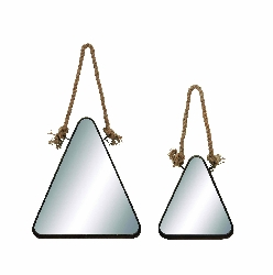Emmeline Triangular Mirror With Rope Handle