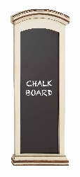Zaza White Finish Wood Blue Blackboard