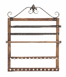 Ider Wood Wall Jewelry Rack