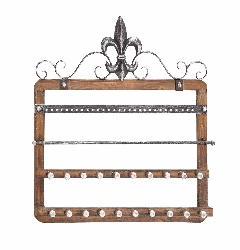 Irondale Wood Wall Jewelry Rack