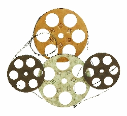Carlee Wall Decor Set Four Film Reels