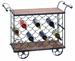 Chad Bar Cart & Wood Wine Trolley