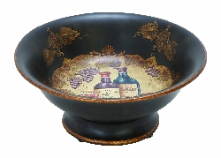 Daria Wine Theme Ceramic Bowl