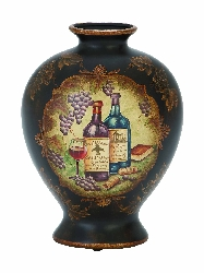 Cynthia Wine Theme Ceramic Vase