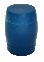 "Gigi Blue 18"" Ceramic Stool"