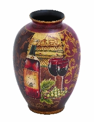 Harriet Wine Theme Vase