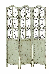Emme Shabby White 3 Panel Room Divider