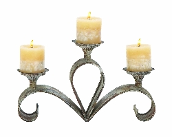 "Darsh 3 Candle 15"" Candle Holder"