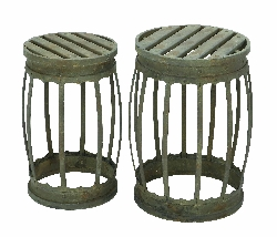 Deandre Barrel Stools Set 2