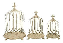 Isha Shabby Bird Cage Set 3