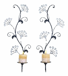 "Deven 24"" Wall Candle Sconce Set 2"
