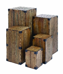 Trystan Wood Bolted Pedestal Blocks Set 5