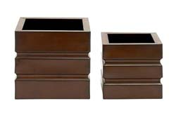 Earhart Square Metal Planter Set/2