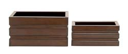 Davy Rectangle Metal Planter Set/2
