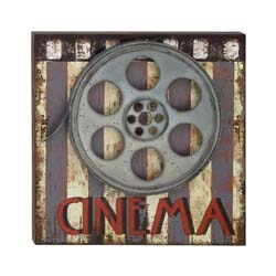 McGehee Wood & Metal Movie Plaque
