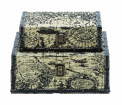 Caius Ancient World Map Travel Luggage Set