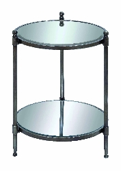 Zaire Mirrored 2 Tier Accent Table