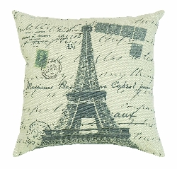 "Moises Eiffel Tower 16"" Plush Pillow"