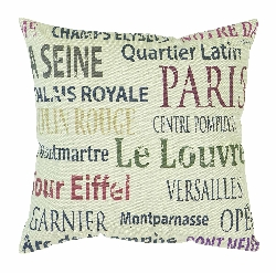 "Violette Paris 16"" Plush Pillow"